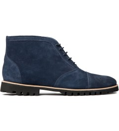 Opening Ceremony Navy Suede Brogue Walking Boot Picutre