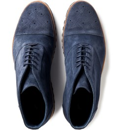 Opening Ceremony Navy Suede Brogue Walking Boot Model Picutre