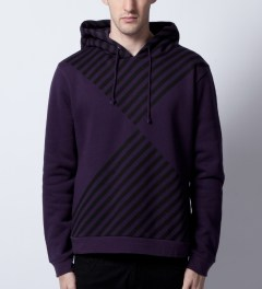 Opening Ceremony Purple Diamond Print Hoodie  Model Picutre