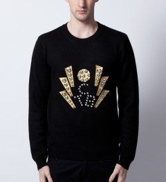 Opening Ceremony Opening Ceremony x Elvis Black Elvis TCB Sweater  Model Picutre