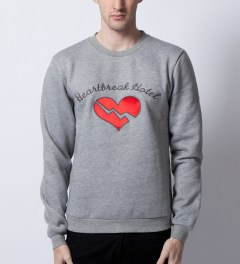 Opening Ceremony Opening Ceremony x Elvis Grey Heartbreak Hotel Sweater  Model Picutre