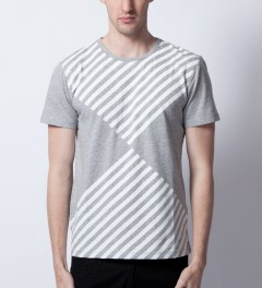 Opening Ceremony Heather Grey Diamond Print T-Shirt  Model Picutre