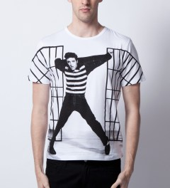 Opening Ceremony Opening Ceremony x Elvis White Jailhouse Rock T-Shirt  Model Picutre