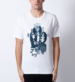 P.A.M. White Punk Picasso T-Shirt Model Picutre