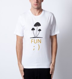 P.A.M. White Fun T-Shirt Model Picutre