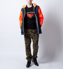 RAINS Blue Orange W Jacket Ltd  Model Picutre