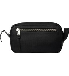 SILENT Damir Doma Black Balm Toiletry Bag  Model Picutre