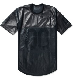 Stampd Stampd x En Noir Black Leather Jersey Shirt Picutre