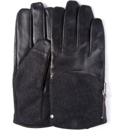 Surface to Air Black Leather V1 Gloves  Picutre