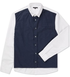Surface to Air Navy/White Grunge Shirt  Picutre