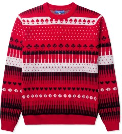 Opening Ceremony Red Gameboard Jacquard Crewneck Picutre