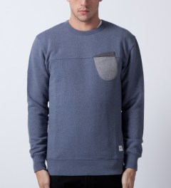 Ucon Federal Blue/Melange Aden Sweater Model Picutre