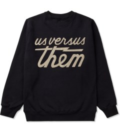 Us Versus Them Black Magnum Cut Crewneck Picutre