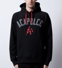 Acapulco Gold Black Ghost Army Pullover Hoodie Model Picutre