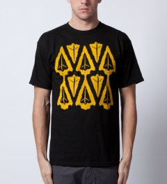 Benny Gold Black Ikat Arrow Head T-Shirt  Model Picutre