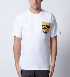 Benny Gold White Fog Camo Pocket T-Shirt  Model Picutre
