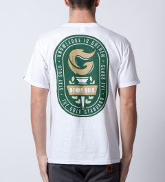 Benny Gold White Torch T-Shirt  Model Picutre
