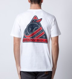 Benny Gold White Space Lab Pocket T-Shirt  Model Picutre