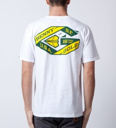 Benny Gold White Ribbon T-Shirt  Model Picutre
