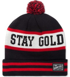 Benny Gold Navy Stay Gold Pom Beanie Picutre