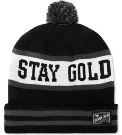 Benny Gold Black Stay Gold Pom Beanie Picutre