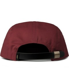 Benny Gold Burgundy Ikat Arrowhead 5-Panel Strapback Cap Model Picutre
