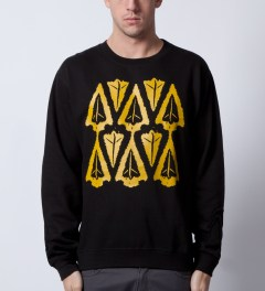 Benny Gold Black Ikat Arrowhead Crewneck  Model Picutre
