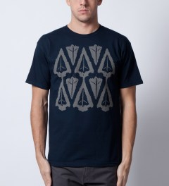 Benny Gold Navy Ikat Arrow Head T-Shirt  Model Picutre