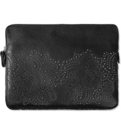 Carven Black Phosphorescent Leather iPad Bag  Picutre