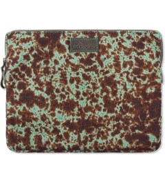 Carven First Green Wool Printed Notebook iPad Bag Picutre