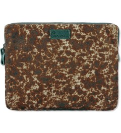 Carven Golden Beige Wool Printed Notebook iPad Bag Picutre