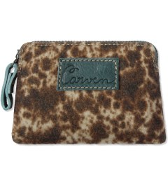 Carven Golden Beige Wool Printed Notebook Purse Picutre