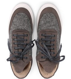Filling Pieces Wool Grey Lowtop Shoe Model Picutre