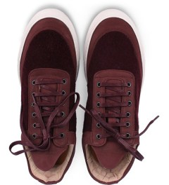 Filling Pieces Wool Burgundy Lowtop Shoe Model Picutre