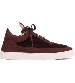 Filling Pieces Wool Burgundy Lowtop Shoe Picutre