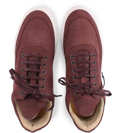 Filling Pieces Perforated Burgundy Lowtop Shoe Model Picutre