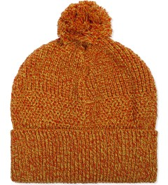 Garbstore Orange Pom Pom Knit Beanie Picutre