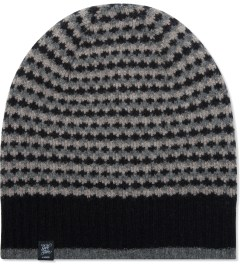 Garbstore Black/Heather Grey Diamond Knit Hat Beanie Picutre