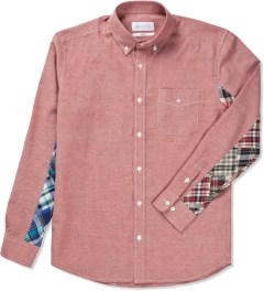 Liful Red NEP Patchwork Shirt  Picutre