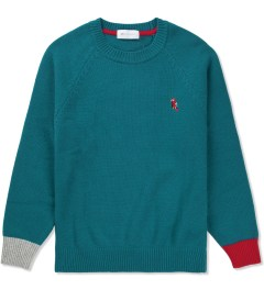 Liful Blue E.F Colorblock Lambswool Knit  Picutre