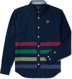 Mishka Navy Broadway Button-Up Flannel Shirt  Picutre