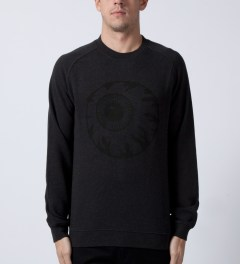 Mishka Heather Black Vintage Keep Watch Crewneck  Model Picutre