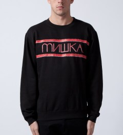 Mishka Black Heatseeker Crewneck  Model Picutre