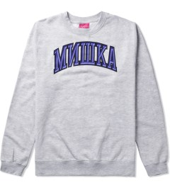 Mishka Athletic Heather Cyrillic Varsity II Crewneck  Picutre