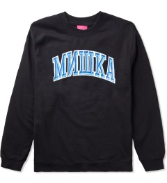 Mishka Black Cyrillic Varsity II Crewneck  Picutre