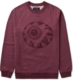 Mishka Heather Crimson Vintage Keep Watch Crewneck  Picutre