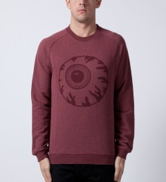 Mishka Heather Crimson Vintage Keep Watch Crewneck  Model Picutre