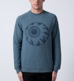 Mishka Heather Marine Vintage Keep Watch Crewneck  Model Picutre