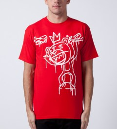 Mishka Red Kong Mop T-Shirt Model Picutre
