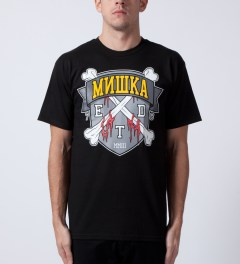 Mishka Black 10 Year ETD Crest T-Shirt Model Picutre